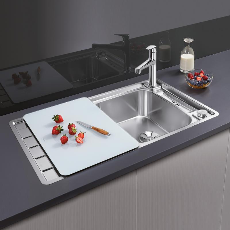 blanco axis iii 45 s if sp le edelstahl seidenglanz 522102 reuter. Black Bedroom Furniture Sets. Home Design Ideas