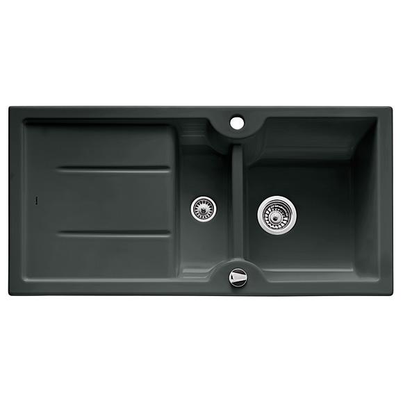 blanco idessa 6 s drehbare sp le becken keramik schwarz 516006 reuter. Black Bedroom Furniture Sets. Home Design Ideas