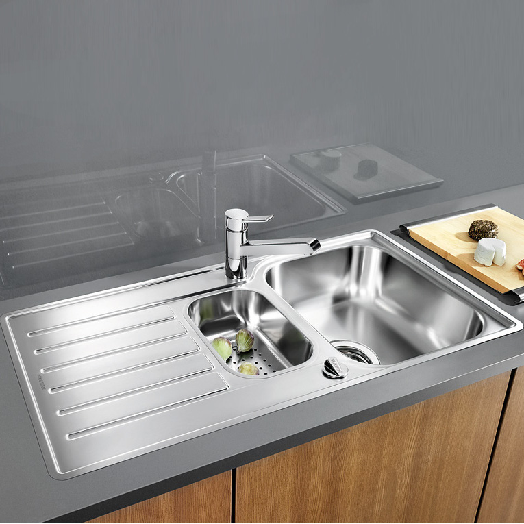 blanco lantos 6 s if drehbare sp le b 100 t 50 cm edelstahl b rstenfinish 519720 reuter. Black Bedroom Furniture Sets. Home Design Ideas