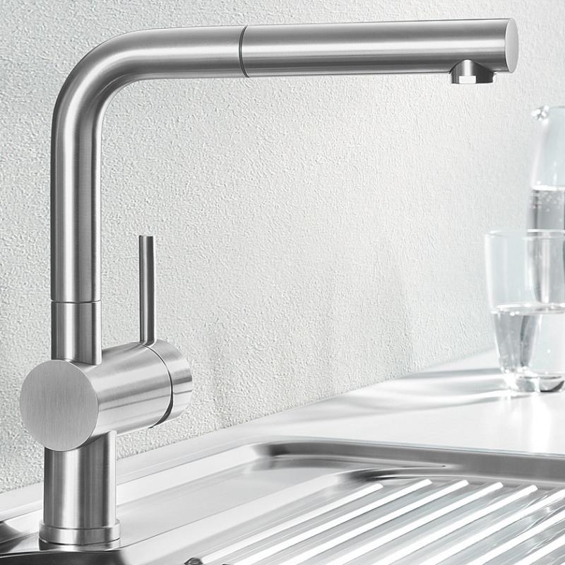 blanco küchenarmaturen bei reuter - Wasserhahn Küche Edelstahl Gebürstet