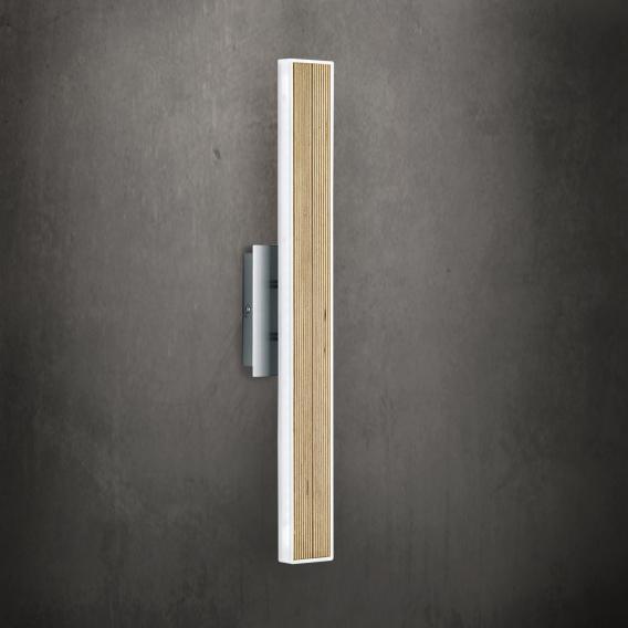B-LEUCHTEN KIRUNA WOOD LED Wandleuchte mit Ein/Aus-Schalter