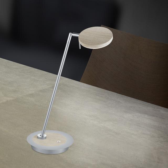 B-LEUCHTEN OMEGA NEW WOOD LED Tischleuchte mit Dimmer
