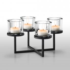 Blomus NERO Kerzenleuchter für 4 Kerzen, quadratisch