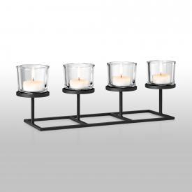 Blomus NERO Kerzenleuchter für 4 Kerzen, rechteckig
