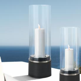 Blomus PIEDRA Windlicht mit Kerze