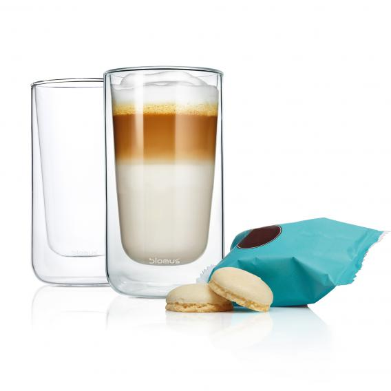 Blomus NERO Thermo-Latte Macchiatogläser, 2er Set