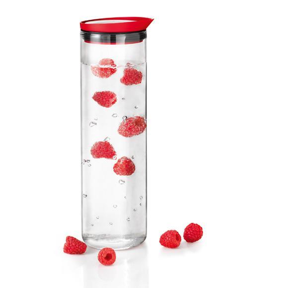 Blomus FONTANA Wasserkaraffe 1 L, rot 63506