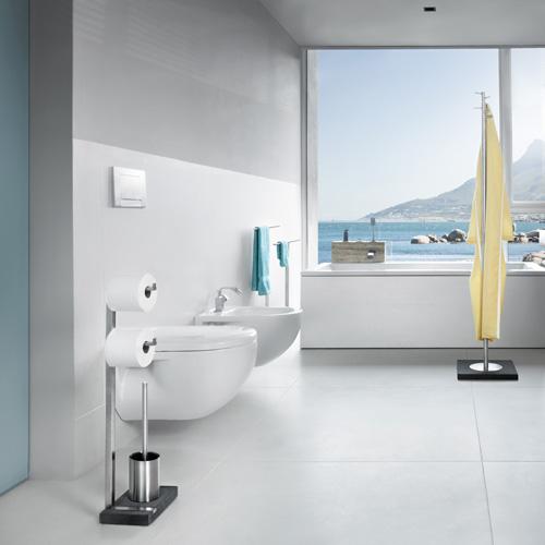 Blomus MENOTO Toilettenbutler edelstahl gebürstet/schiefer