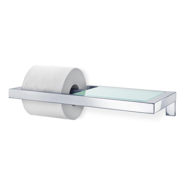 Blomus MENOTO Toilettenpapierhalter mit Glasablage edelstahl poliert