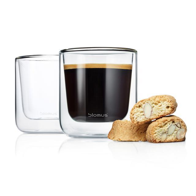 Blomus NERO Thermo-Kaffeegläser, 2er Set