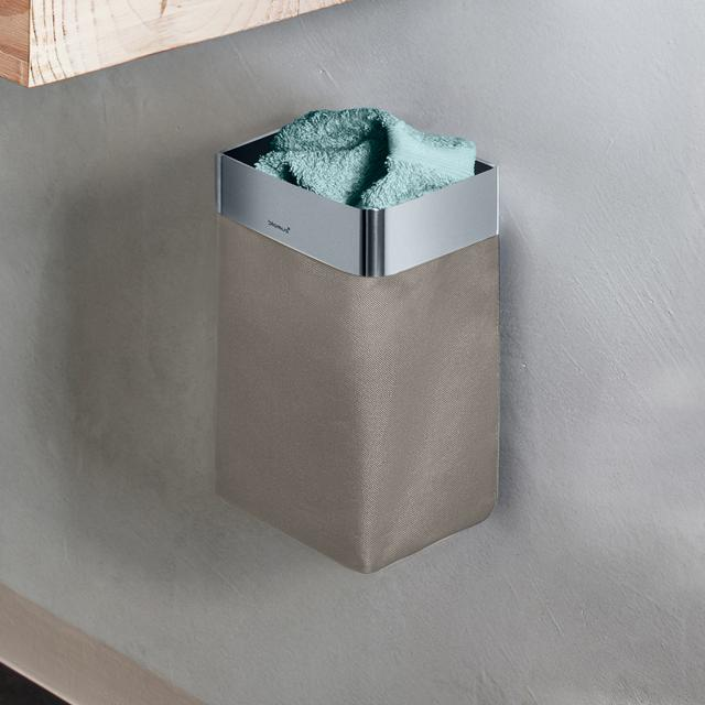 Blomus NEXIO Gästehandtuchkorb edelstahl poliert/taupe