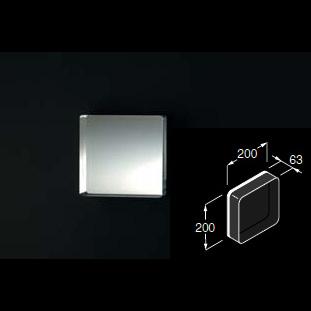 Boffi KAJA Quadratischer Spiegel aus transparentem Plexiglas