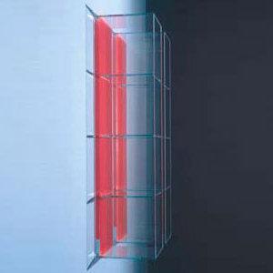 Boffi GLASS Schrank mit 4 offenen Fächern weiß