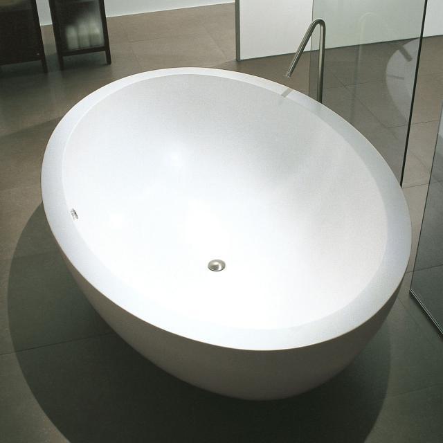 Boffi I FIUMI PO Freistehende Oval-Badewanne weiß