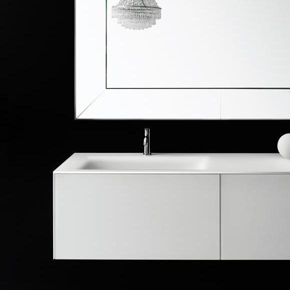 Boffi Soho BWRPB090SH Waschtischunterschrank für Einbauwaschtisch mit formgeschnittener Schublade weiß