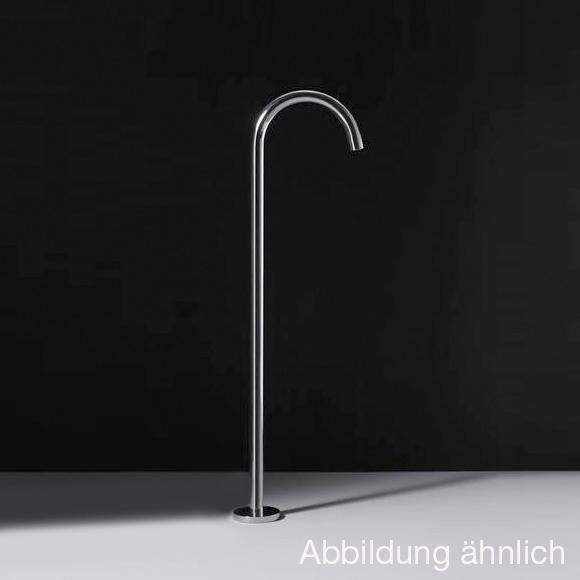 Boffi WINGS RINS Auslauf für Waschbecken, für bodenstehende Montage ohne Ablaufgarnitur, edelstahl satiniert
