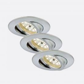 Briloner Attach 3er Set LED Einbaustrahler rund, schwenkbar