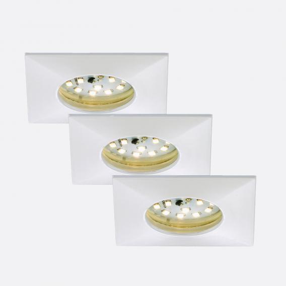 Briloner Attach 3er Set LED Einbaustrahler eckig