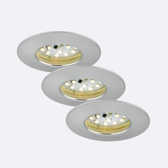 Briloner Attach 3er Set LED Einbaustrahler rund