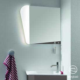 Burgbad Badu Spiegel mit LED-Beleuchtung anthrazit hochglanz