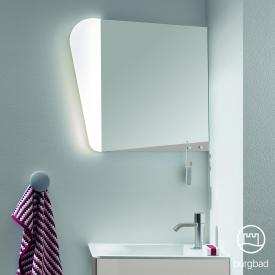 Burgbad Badu Spiegel mit LED-Beleuchtung leinengrau hochglanz