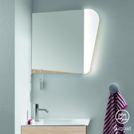 Burgbad Badu Spiegel mit LED-Beleuchtung eiche cashmere dekor