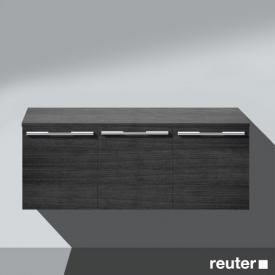 Burgbad Bel Unterschrank mit 3 Türen Front hacienda schwarz / Korpus hacienda schwarz