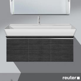 Burgbad Bel Waschtischunterschrank mit 3 Türen und Waschtisch Front hacienda schwarz/Korpus hacienda schwarz/WT weiß