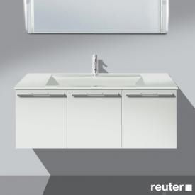 Burgbad Bel Waschtischunterschrank mit 3 Türen und Waschtisch Front weiß matt/Korpus weiß matt/WT weiß