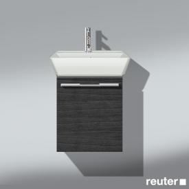 Burgbad Bel Waschtischunterschrank mit 1 Tür und Waschtisch Front hacienda schwarz/Korpus hacienda schwarz/WT weiß