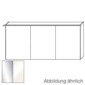 Burgbad Cala 2.0 Spiegelschrank mit LED-Beleuchtung mit 3 Türen Front verspiegelt/Korpus weiß hochglanz