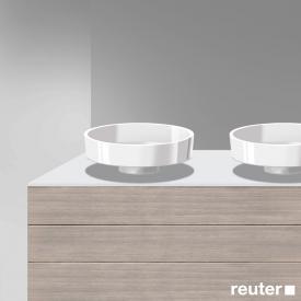 Burgbad Crono Konsolenplatte mit 2 Siphonbohrungen weiß matt