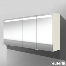 Burgbad Crono Spiegelschrank mit LED-Beleuchtung mit 4 Türen weiß matt, ohne Waschtischbeleuchtung