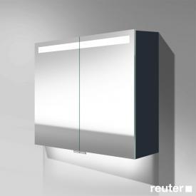 Burgbad Crono Spiegelschrank mit LED-Beleuchtung mit 2 Türen anthrazit matt, mit Waschtischbeleuchtung