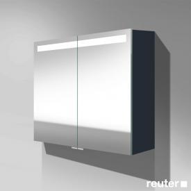 Burgbad Crono Spiegelschrank mit LED-Beleuchtung mit 2 Türen anthrazit matt, ohne Waschtischbeleuchtung