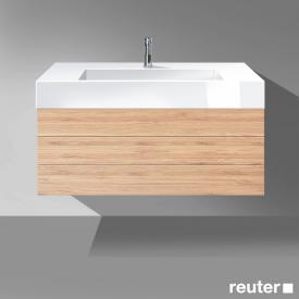 Burgbad Crono Waschtischunterschrank für Aufsatzwaschtisch mit 2 Auszügen Front bambus / Korpus bambus