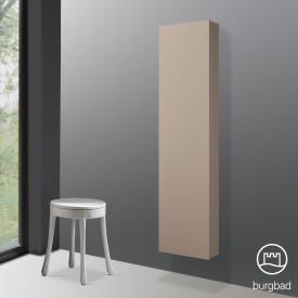 Burgbad Cube Hochschrank mit 1 Tür und 1 Spiegel Front schilf hochglanz / Korpus schilf hochglanz