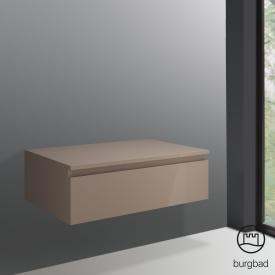 Burgbad Cube Sideboard mit 1 Auszug Front schilf hochglanz / Korpus schilf hochglanz