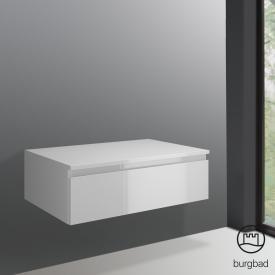 Burgbad Cube Sideboard mit 1 Auszug Front weiß hochglanz / Korpus weiß hochglanz