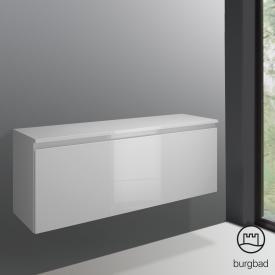 Burgbad Cube Unterschrank mit 1 Auszug Front weiß hochglanz / Korpus weiß hochglanz
