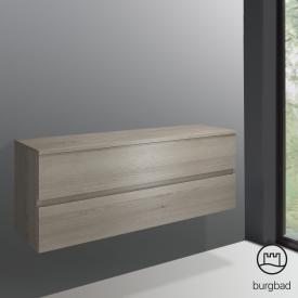 Burgbad Cube Unterschrank mit 2 Auszügen Front eiche flanell dekor / Korpus eiche flanell dekor