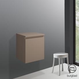 Burgbad Cube Unterschrank mit 1 Auszug Front schilf hochglanz / Korpus schilf hochglanz