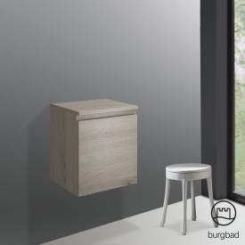 Burgbad Cube Unterschrank mit 1 Auszug Front eiche flanell dekor / Korpus eiche flanell dekor