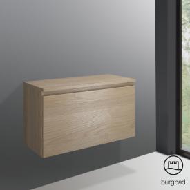 Burgbad Cube Unterschrank mit 1 Auszug Front eiche cashmere dekor / Korpus eiche cashmere dekor