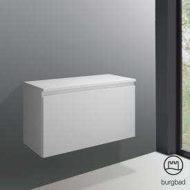 Burgbad Cube Unterschrank mit 1 Auszug Front weiß matt / Korpus weiß matt