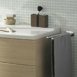 Burgbad Doppel-Handtuchhalter ausziehbar chrom