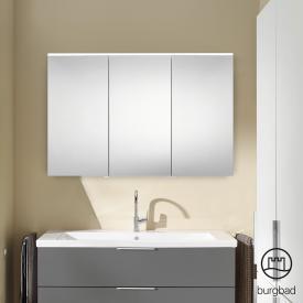 Burgbad Eqio Spiegelschrank mit LED-Beleuchtung grau hochglanz, ohne Waschtischbeleuchtung