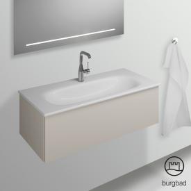 Burgbad Essence Waschtischunterschrank mit 1 Auszug Front lichtgrau matt/Korpus lichtgrau matt