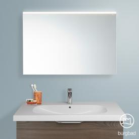Burgbad Euro Spiegel mit LED-Beleuchtung marone trüffel dekor/verspiegelt