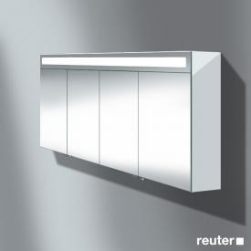 Burgbad Evo Spiegelschrank mit 4 Türen Front verspiegelt / Korpus weiß glänzend
